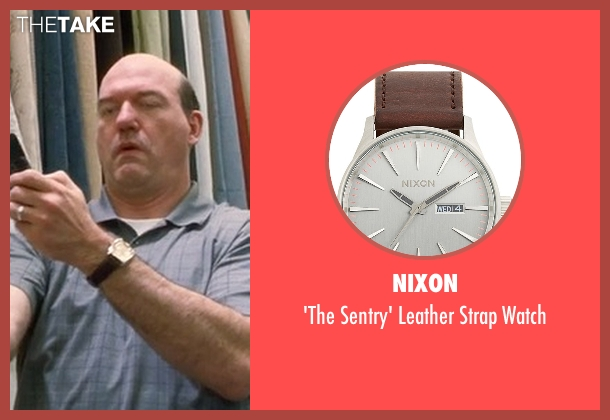 Nixon brown watch from Crazy, Stupid, Love. seen with John Carroll Lynch (Bernie Riley)
