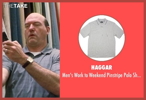 Haggar gray shirt from Crazy, Stupid, Love. seen with John Carroll Lynch (Bernie Riley)