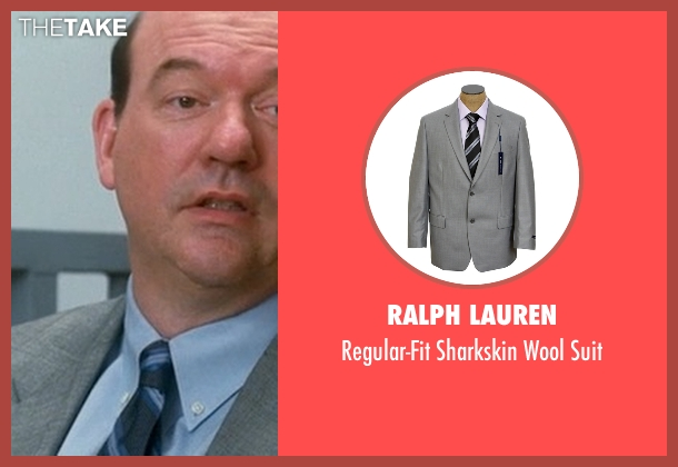 Ralph Lauren gray suit from Crazy, Stupid, Love. seen with John Carroll Lynch (Bernie Riley)