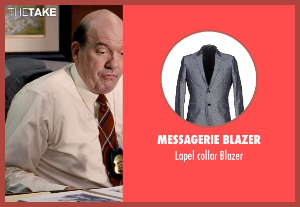 Messagerie Blazer gray blazer from Hot Pursuit seen with John Carroll Lynch (Captain Emmett)