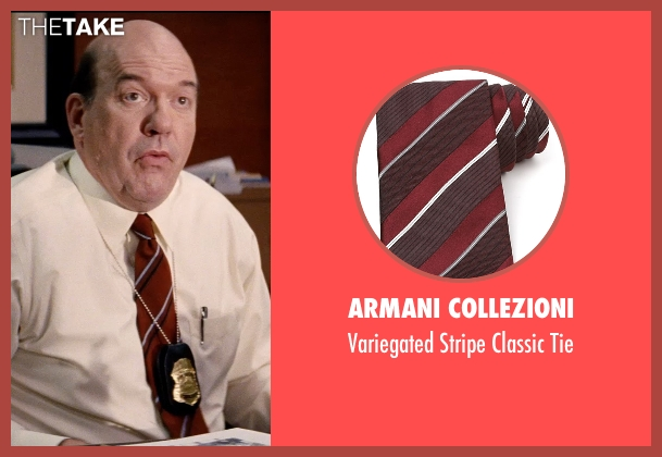 Armani Collezioni red tie from Hot Pursuit seen with John Carroll Lynch (Captain Emmett)
