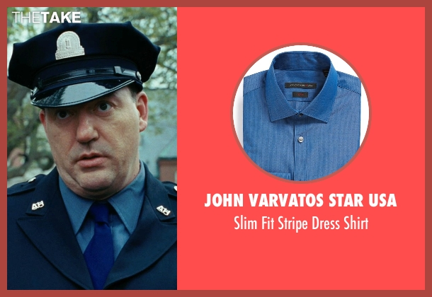 John Varvatos Star USA blue shirt from Shutter Island seen with John Carroll Lynch (Deputy Warden McPherson)