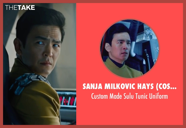 Sanja Milkovic Hays (Costume Designer) yellow uniform from Star Trek Beyond seen with John Cho (Sulu)
