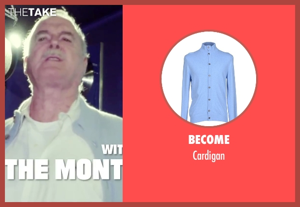 Become blue cardigan from Absolutely Anything seen with John Cleese (Extraterrestrial (voice))