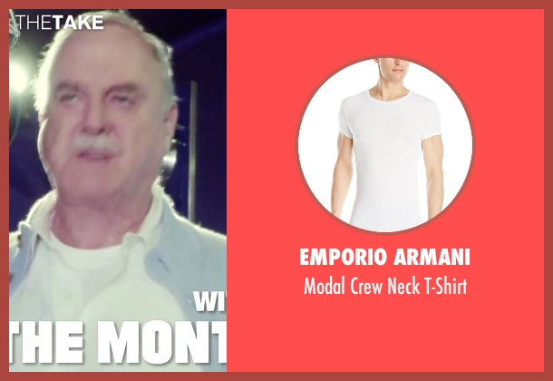 Emporio Armani white t-shirt from Absolutely Anything seen with John Cleese (Extraterrestrial (voice))