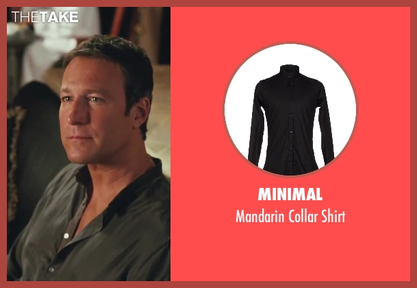 Minimal black shirt from Sex and the City 2 seen with John Corbett (Aidan)