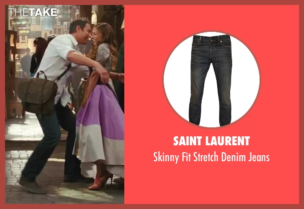 Saint Laurent blue jeans from Sex and the City 2 seen with John Corbett (Aidan)