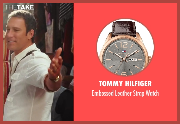 Tommy Hilfiger brown watch from Sex and the City 2 seen with John Corbett (Aidan)