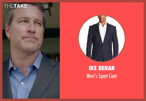 Ike Behar blue coat from The Boy Next Door seen with John Corbett (Unknown Character)
