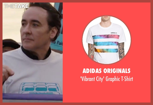 Adidas Originals white t-shirt from Chi-Raq seen with John Cusack (Fr. Mike Corridan)