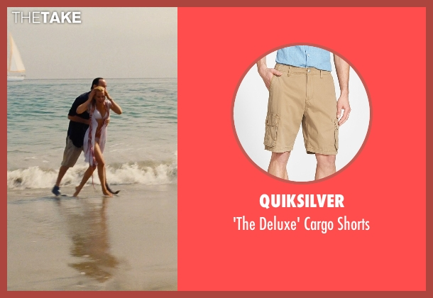 Quiksilver beige shorts from Love & Mercy seen with John Cusack (Brian Wilson - older)