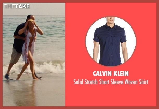 Calvin Klein blue shirt from Love & Mercy seen with John Cusack (Brian Wilson - older)