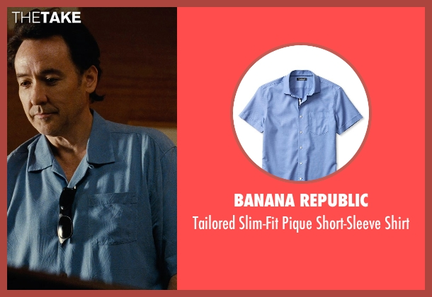 Banana Republic blue shirt from Love & Mercy seen with John Cusack (Brian Wilson - older)