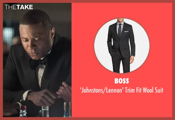 BOSS black suit from Arrow seen with John Diggle (David Ramsey)