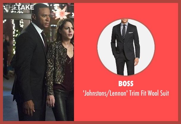 BOSS black suit from Arrow seen with John Diggle (David Ramsey)