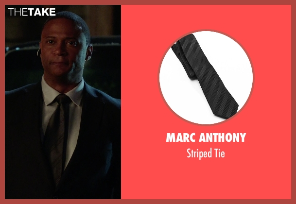 Marc Anthony black tie from Arrow seen with John Diggle (David Ramsey)