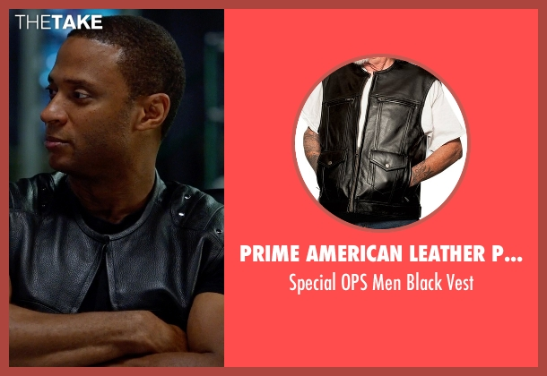Prime American Leather Products black vest from Arrow seen with John Diggle (David Ramsey)