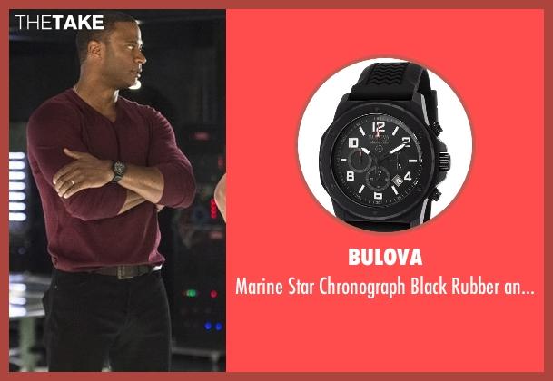 Bulova black watch from Arrow seen with John Diggle (David Ramsey)