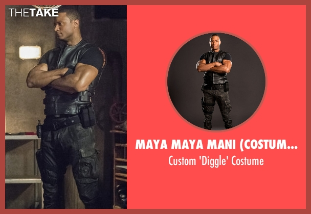 Maya Maya Mani (Costume Designer) costume from Arrow seen with John Diggle (David Ramsey)