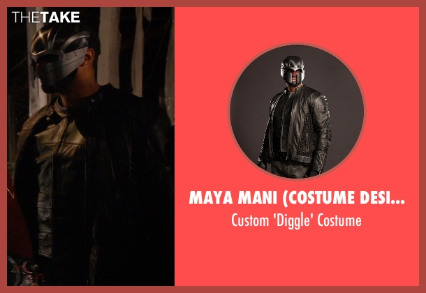 Maya Mani (Costume Designer) costume from Arrow seen with John Diggle (David Ramsey)