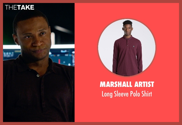 Marshall Artist red shirt from Arrow seen with John Diggle (David Ramsey)