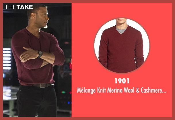 1901 red sweater from Arrow seen with John Diggle (David Ramsey)