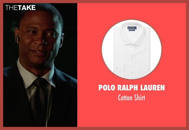 Polo Ralph Lauren white shirt from Arrow seen with John Diggle (David Ramsey)
