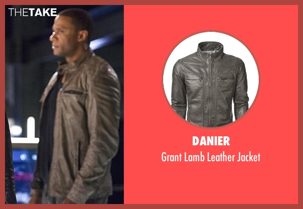 Danier black jacket from The Flash seen with John Diggle (David Ramsey)