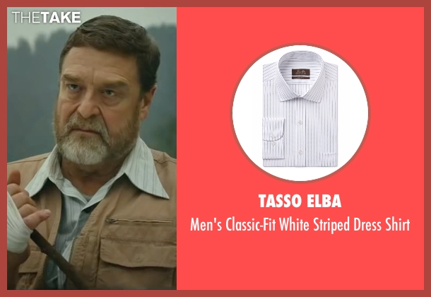 Tasso Elba white shirt from Kong: Skull Island seen with John Goodman (Randa)