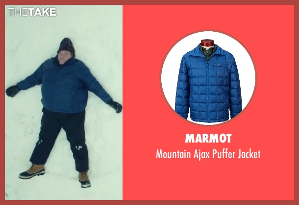 Marmot blue jacket from Love the Coopers seen with John Goodman (Sam)