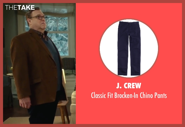 J. Crew blue pants from Love the Coopers seen with John Goodman (Sam)