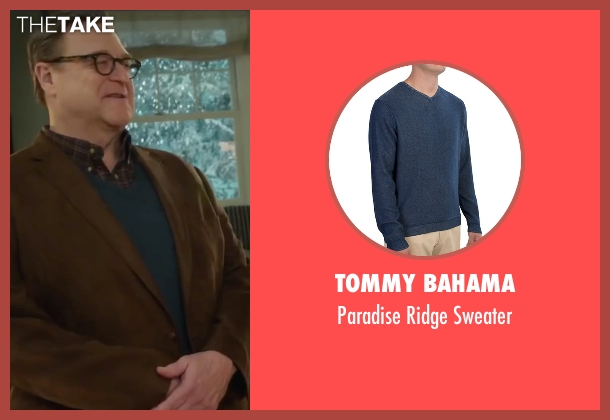 Tommy Bahama blue sweater from Love the Coopers seen with John Goodman (Sam)
