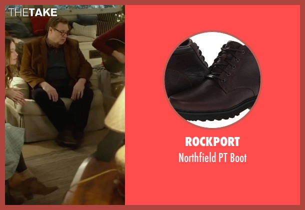 Rockport brown boot from Love the Coopers seen with John Goodman (Sam)