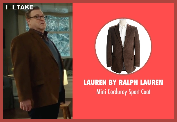 Lauren by Ralph Lauren brown coat from Love the Coopers seen with John Goodman (Sam)