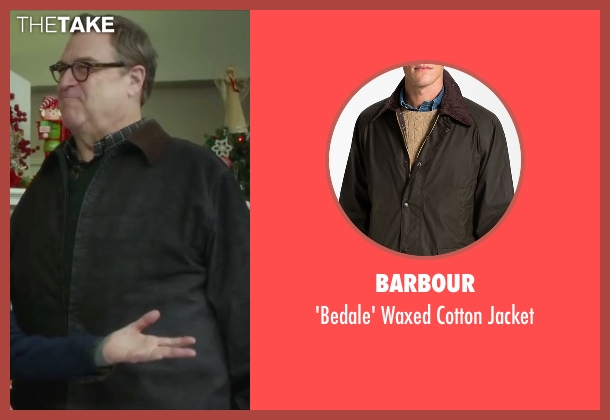 Barbour brown jacket from Love the Coopers seen with John Goodman (Sam)