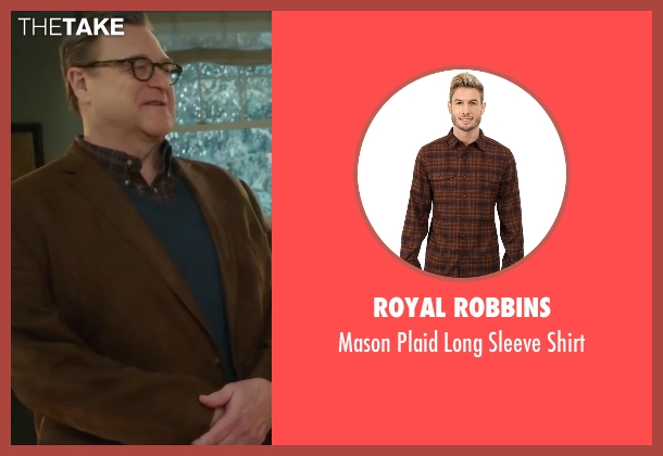 Royal Robbins brown shirt from Love the Coopers seen with John Goodman (Sam)
