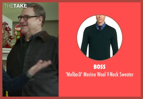 Boss green sweater from Love the Coopers seen with John Goodman (Sam)