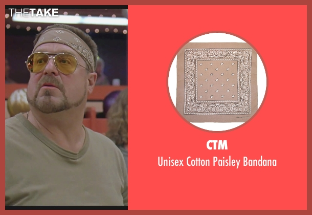 Ctm beige bandana from The Big Lebowski seen with John Goodman (Walter Sobchak)