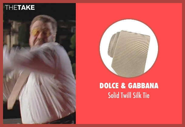 Dolce & Gabbana beige tie from The Big Lebowski seen with John Goodman (Walter Sobchak)
