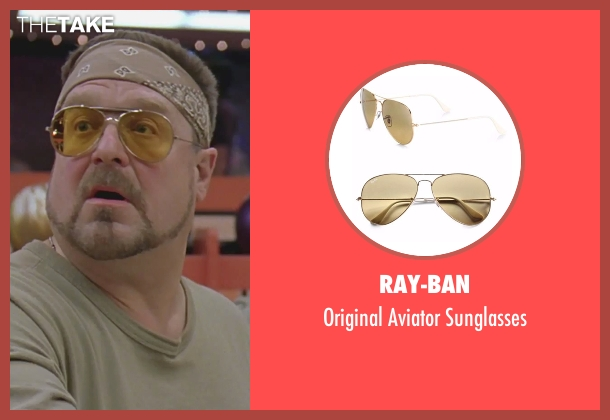 Ray-Ban yellow sunglasses from The Big Lebowski seen with John Goodman (Walter Sobchak)