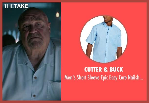 Cutter & Buck blue shirt from The Gambler seen with John Goodman (Frank)