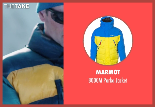 Marmot blue jacket from Everest seen with John Hawkes (Doug Hansen)