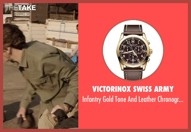 Victorinox Swiss Army brown watch from Everest seen with John Hawkes (Doug Hansen)