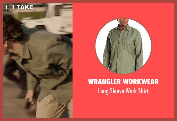 Wrangler Workwear green shirt from Everest seen with John Hawkes (Doug Hansen)