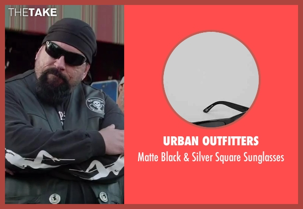Urban Outfitters black sunglasses from Ride Along seen with John Kap (Bearded Biker)