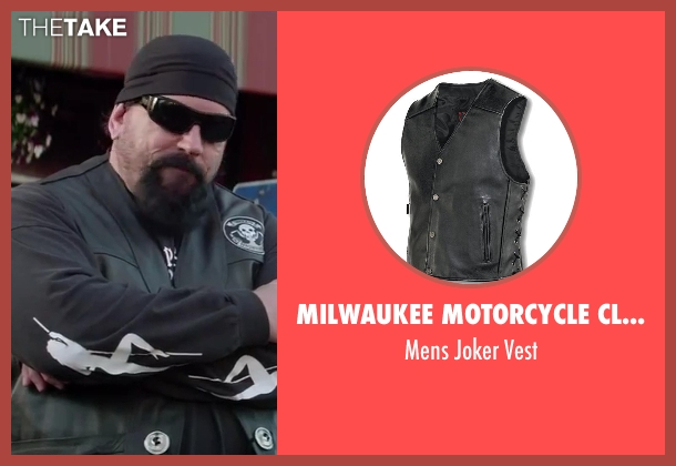 Milwaukee Motorcycle Clothing Company black vest from Ride Along seen with John Kap (Bearded Biker)