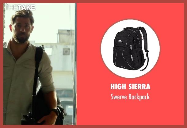 High Sierra black backpack from 13 Hours: The Secret Soldiers of Benghazi seen with John Krasinski (Jack)