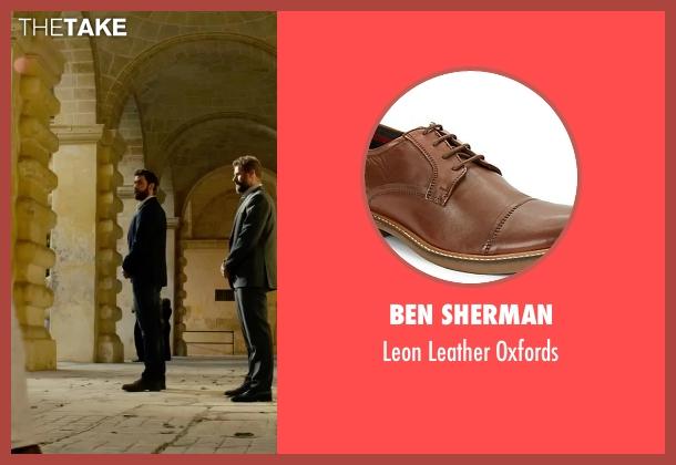 Ben Sherman brown oxfords from 13 Hours: The Secret Soldiers of Benghazi seen with John Krasinski (Jack)