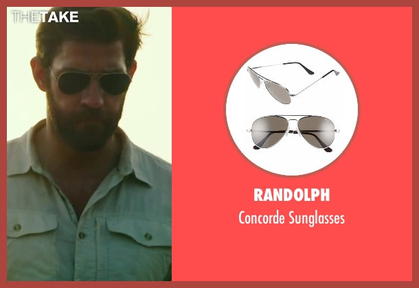Randolph gold sunglasses from 13 Hours: The Secret Soldiers of Benghazi seen with John Krasinski (Jack)