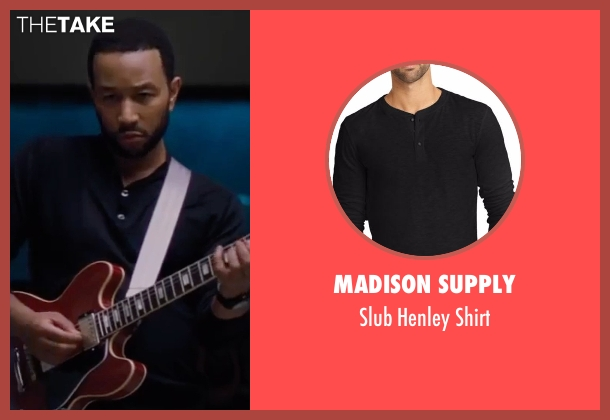 Madison Supply black shirt from La La Land seen with John Legend (Keith)